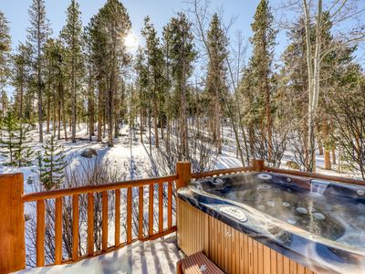 Photo for Hilltop home w/ private hot tub, majestic views & 2 separate living areas!