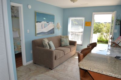 Just off the front of the condo is a 16' porch with pub seating - thisis the most popular room in the condo!