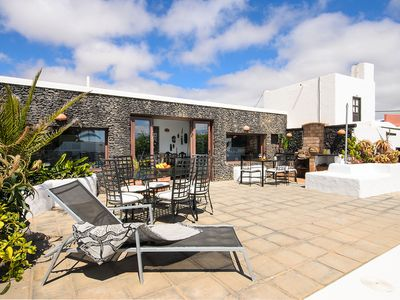 Photo for Rustic Home Short Drive from Beach with Pool, Terraces, Garden & Wi-Fi; Parking Available