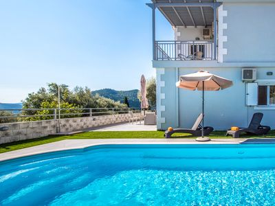 Photo for A PERFECT VILLA WITH POOL AND SEA VIEWS IDEAL FOR FAMILIES IN NIDRI, LEFKADA
