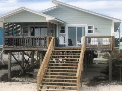 Photo for BEACH FRONT 4 BR 2 Bath Home Directly on the Gulf!!