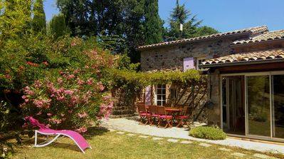 Photo for Beautiful stone house on a plot of 7000M ² with view in southern Ardèche