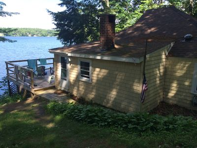 Photo for New Listing. Classic Maine Lakefront Cottage 20 Minutes from Portland.