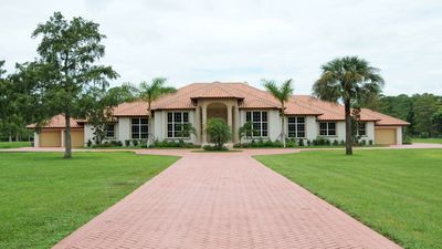 Private Estate on 5 Acres, Fenced In; Exterior View; 12,000 Square Feet! Perfect for Large Groups, Events!