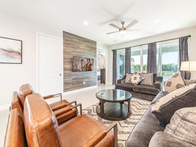 Photo for Spacious 6 Bedroom Home NEW to VRBO! Water Park Access+Private Pool+near Disney!