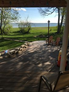 Beautiful Lakefront home on the Flats, sleeps 7, timber frame, resort