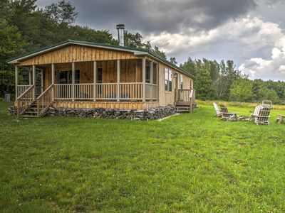 Photo for Livingston Manor home w/Yard&Fire Pit-Walk to Lake