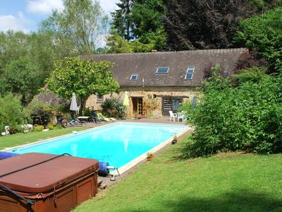 Photo for Cottage with shared swimming pool, hot tub, fishing, tennis, UK TV and Wi-Fi