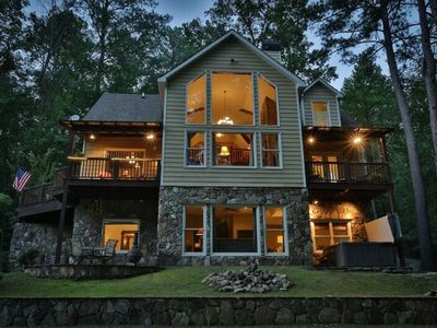 Photo for Ultra Luxury Cabin On River in River Resort with Amenities- No Pets