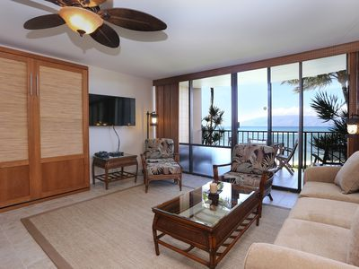 Photo for Direct Ocean Front Views at The Valley Isle in Kahana. No A/C. Fully Remodeled
