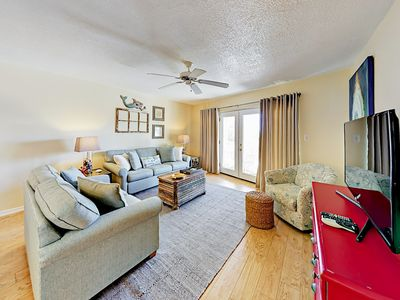 Photo for Charming 2BR Duplex w/ 2 Balconies Overlooking Pool -- Tennis & Beach Access