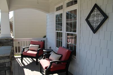 Private porch to rest and relax