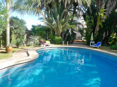 Photo for This 4-bedroom villa for up to 7 guests is located in Denia and has a private swimming pool, air-con