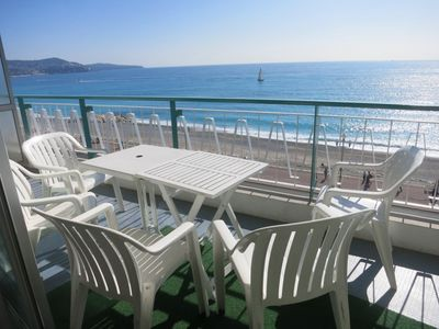 Photo for Promenade des Anglais apartment sea view, air conditioning, small bedroom
