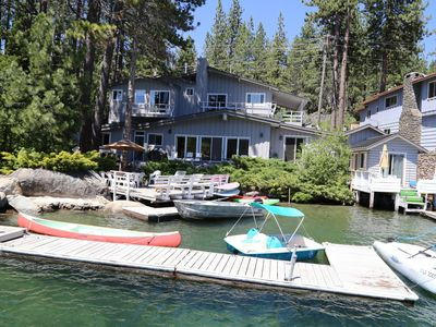 Photo for A Gorgeous Lakefront property and Marina on the sunny side of Donner