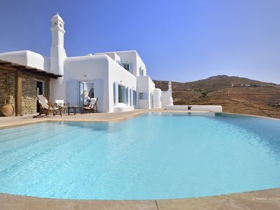 Photo for Alkaia Stylish Villa with Sea View and Infinity Pool 500 m from Lia Beach