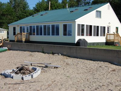 Large family cottage directly on sandy beach