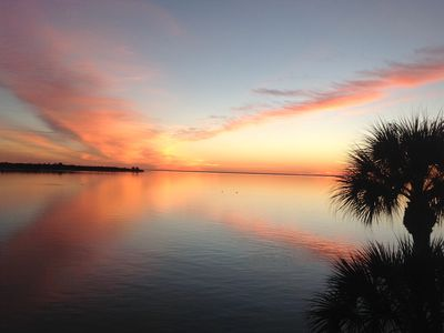 Photo for Quiet condo with water view .... just off the Sunshine Skyway Bridge.