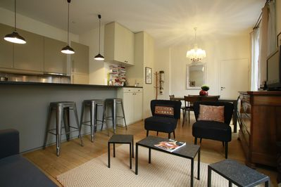 Living / dining  room of the 2 bedroom unit