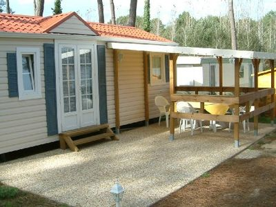 Photo for ATLANTIC COAST, BEAUTIFUL MOBILE HOME 6 PERS. IN CAMPING 3 * WITH POOL