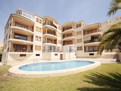 Photo for 3 bedroom Apartment, sleeps 7 with Pool, Air Con and Walk to Beach & Shops