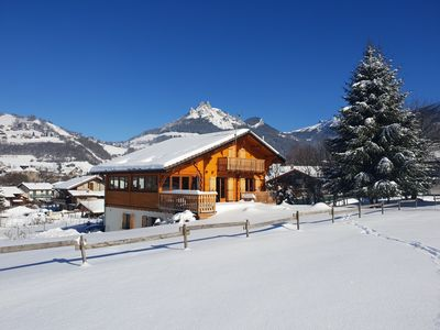 Photo for 3 * Savoyard studio in chalet between lakes and mountains