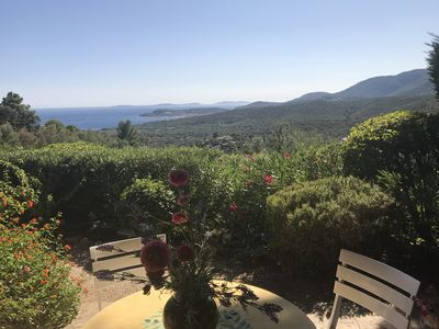 Photo for Provençal villa with panoramic view of beach