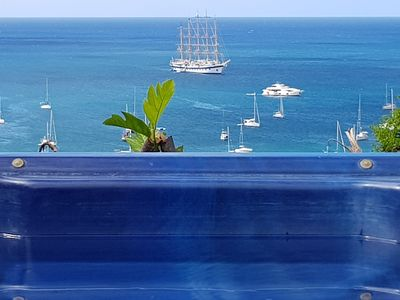 Photo for Wooden villa with spa 200m2 panoramic view of the caribbean sea