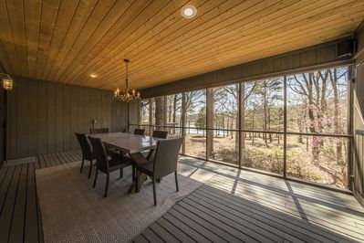 Beautiful view of Lake Eden from screened in porch