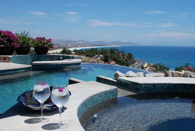 View of the ocean from the jacuzzi