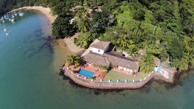 Photo for Mansion Over the Sea, 6 suites with air, stunning view, barbecue