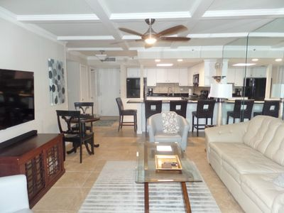 Large Living room open to kitchen