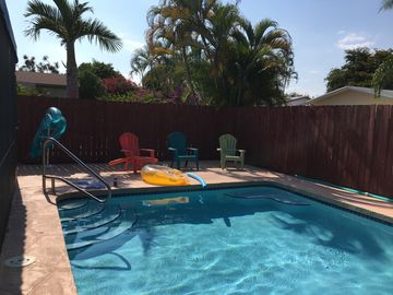 Low rates for Sept-Dec, heated pool, single family home, 1 mile to beach,  quiet