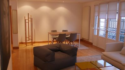 Photo for sunny center T3 75m2 apartment with private parking
