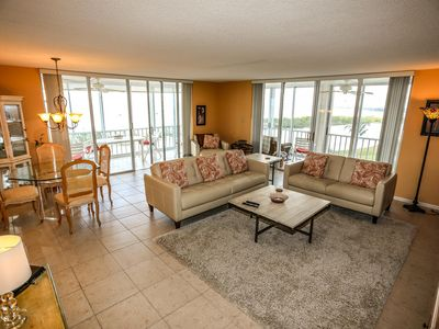 Photo for 2/2 beachfront condo with wrap around views of the Gulf!!