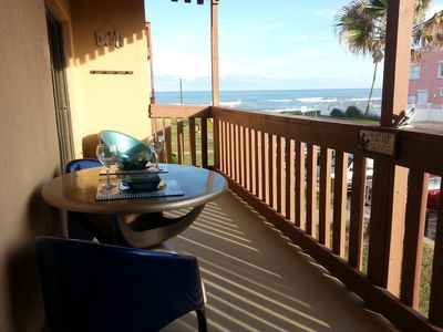 Relax, wine and dine from your private balcony looking at the beach.