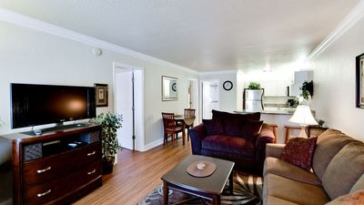 Photo for Bamboo 301- Across the street from the beach- Condo 2 Bedroom /2 Bath , maximum occupancy of 4 people.  Community pool.