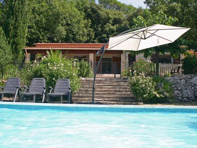 Photo for Luxurious, hypo-allergen villa with air conditioning, fenced swimming pool, guest house, playground
