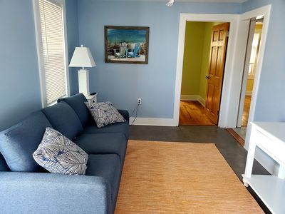 Photo for Newly Renovated Top Floor Apt Downtown 2 blocks from Beach&Boardwalk