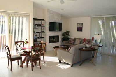 Bright, cheerful and spacious living room.