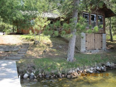 Photo for Charming, log cabin, on Kego Lake, Fifty Lakes, MN; near Crosslake and Emily