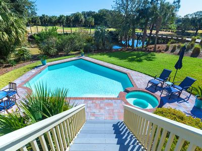 Photo for Escape to this 4BR home pool, golf, lagoon views, in Palmetto Dunes, Bike or Shuttle to the beach!