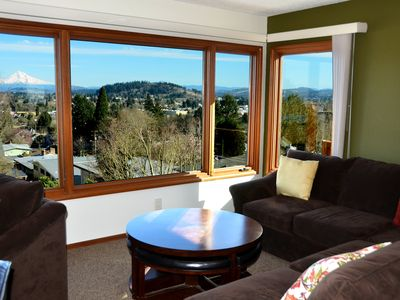 Photo for Sunny 2BR Mt. Tabor Home With Amazing Mt. Hood View!
