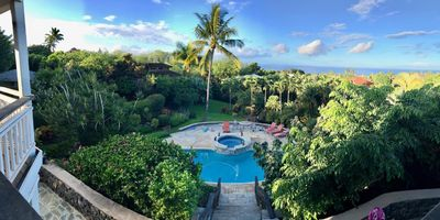 Spectacular view House with Pool Spa, fully equipped on 1 Acre minutes to beach