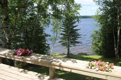 Looking northwest across Moose Lake. The BWCAW begins less than 1 mile east