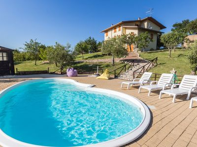 Photo for Villa Luca with pool in San Marino, with sea view, 30 km from the beaches of the Adriatic coast