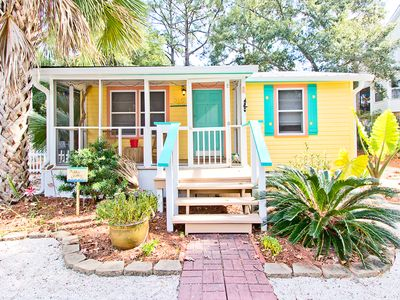 Photo for Cute, Colorful, and Renovated Beach Cottage with Corn Hole, Fully Fenced Yard and Pet Friendly