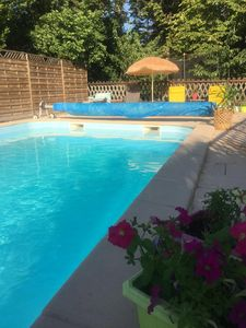 Photo for Charming house near Medieval town swimming pool, spa, garden 15 people