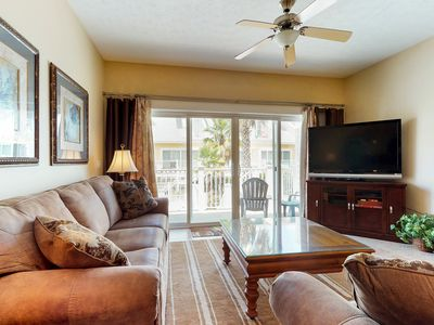 Photo for NEW LISTING! Bright & comfortable condo w/ a shared pool, private beach access!