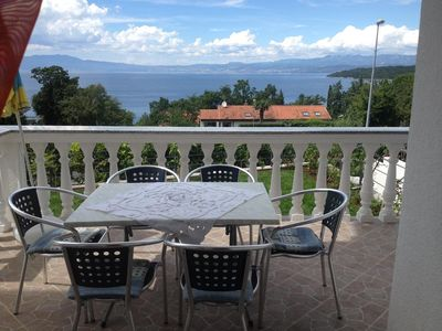 Photo for Two bedroom apartment with terrace and sea view Njivice (Krk)